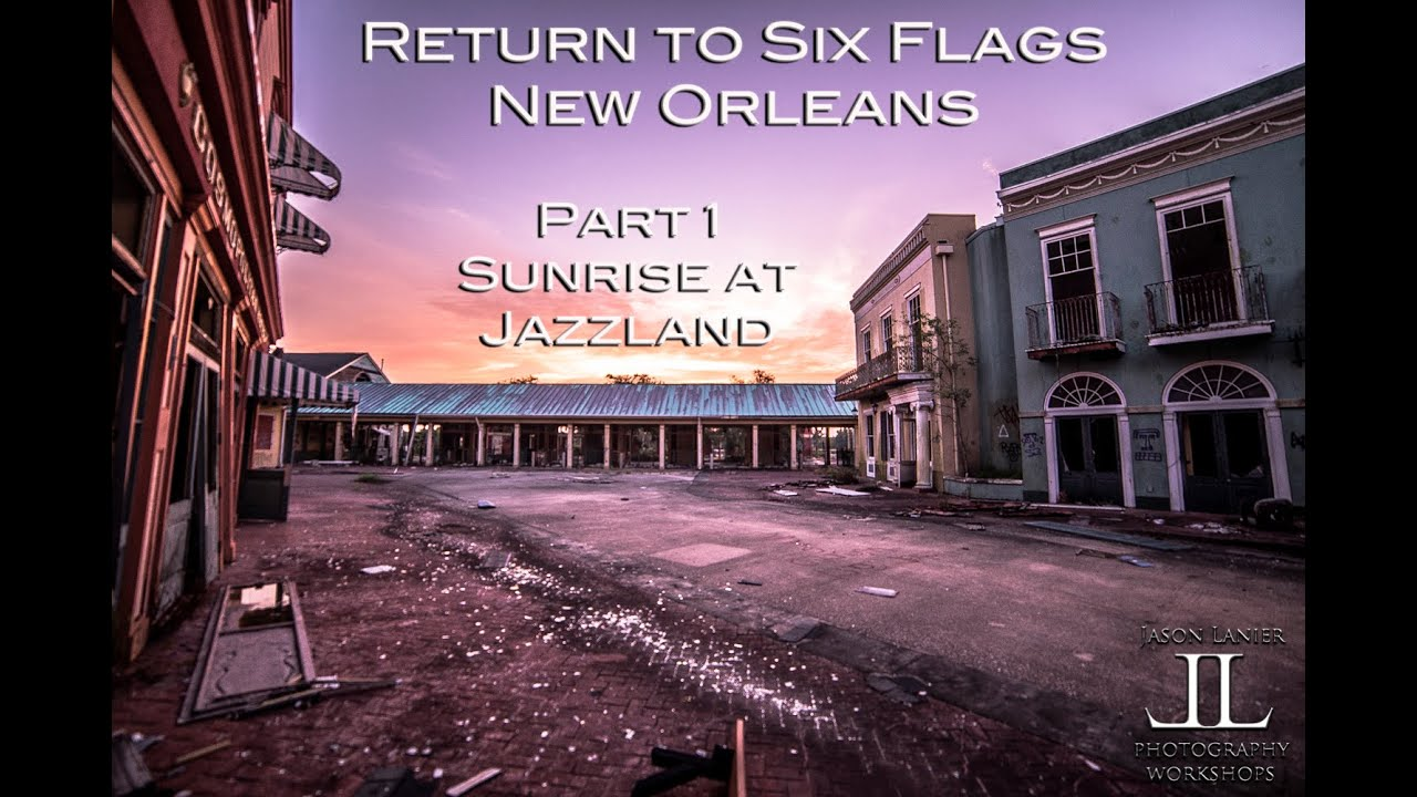Six Flags Jazzland Sunrise At Abandoned Six Flags New Orleans Jazzland By