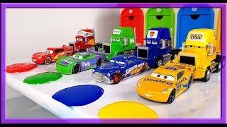 Lightning Mcqueen and Friends Racing through Paint Adventure