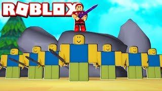 CONTROLLING AN ARMY OF NOOB at ROBLOX → Army Control Simulator 🎮
