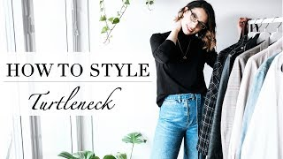 HOW TO STYLE A TURTLENECK / ROLL-NECK / SKIVVY || OUTFITS || LOOKBOOK