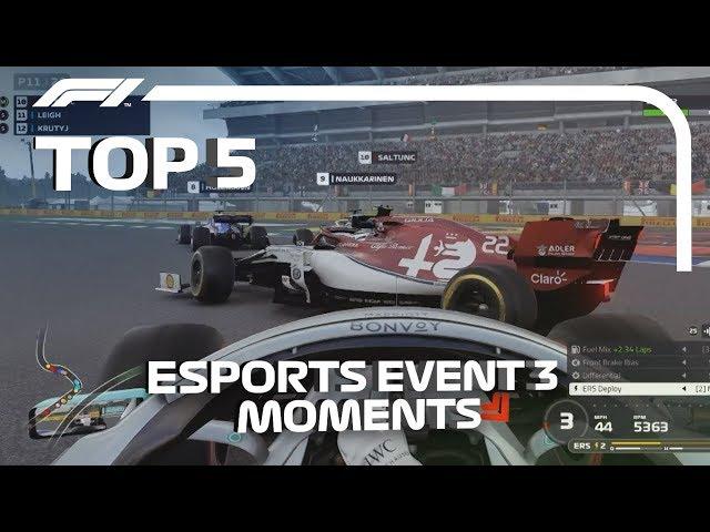 Top 5 Moments | F1 Esports Pro Series 2019 Event 3