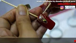 bridal nail art tutorial step by step ( magic techniques by chandra prakash patel)