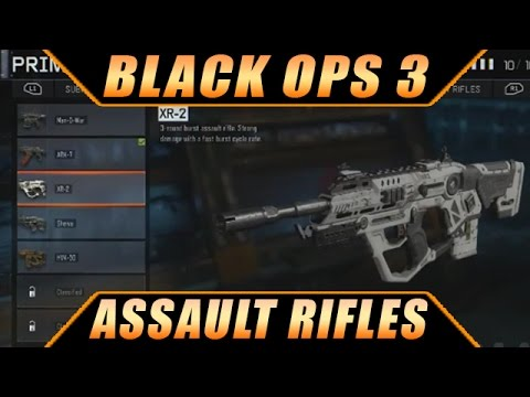 Call of Duty Black Ops 3 Multiplayer ALL Assault Rifles ...