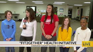 Cherokee county school district students and employees participate in healthy lifestyle program