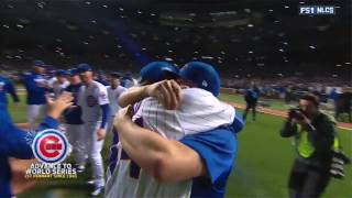 Chicago Cubs Advance to World Series (Last Outs & Celebration)