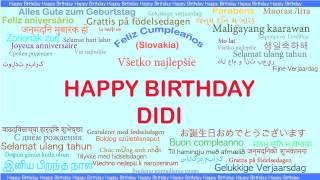 Didi DeeDee   Languages Idiomas - Happy Birthday