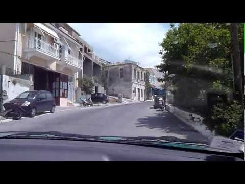 Crossing Samos island on the road from Pythagorion in the south to Samos-town in the north