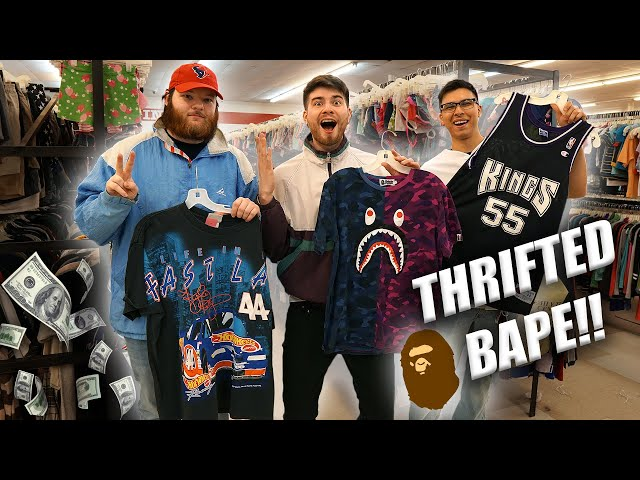 I FOUND BAPE IN THE THRIFT?! Squad Reunion! Trip to theThrift #318
