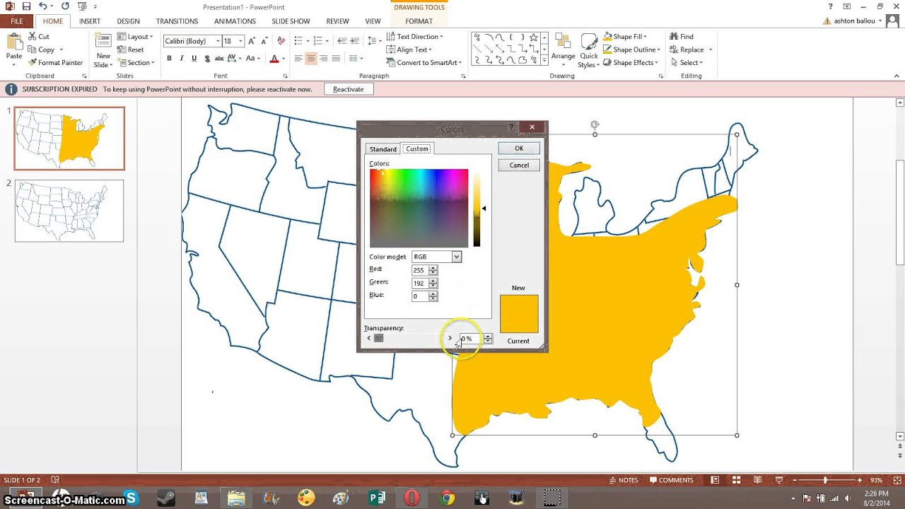 How To Make Weather Maps With Microsoft Powerpoint YouTube - Microsoft powerpoint us map