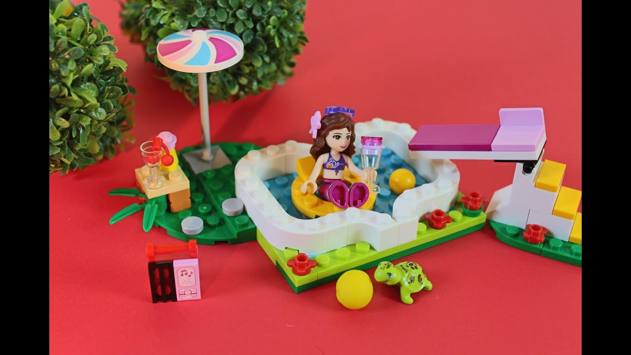 Lego Friends La Piscina Lego Friends El Jardin De Olivia Youtube