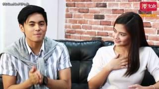 """Bianca Umali and Miguel Tanfelix on PEP TALK. """"Ano ang gagawin mo"""