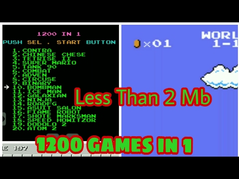 [2MB] 1200 games in 1 apk 😱 less than 2 Mb Old days games like super mario, bomberman, contra etc. thumbnail