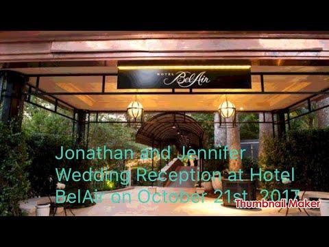 Hotel BelAir wedding reception on October 21st, 2017 LA-USA