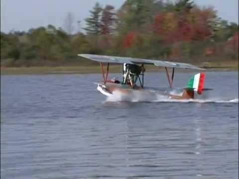 First flight of Macchi Flying boat