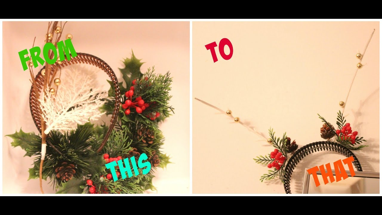 DIY Kitschy Christmas Headband - YouTube