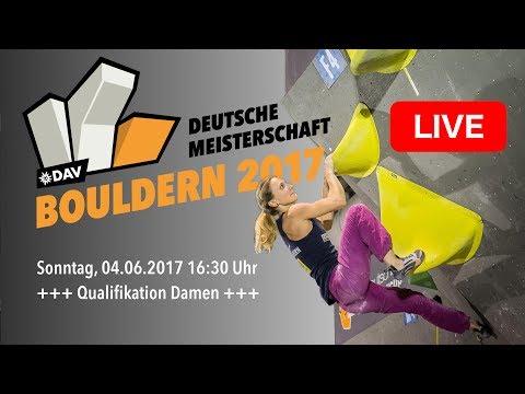 Qualifikation Damen  - Deutsche Meisterschaft Bouldern 2017
