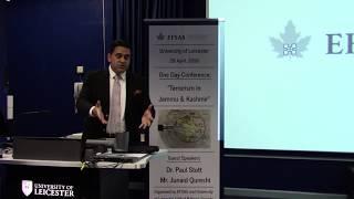Mr. Junaid Qureshi (Director EFSAS) speaking at University of Leicester on Terrorism in  J&K