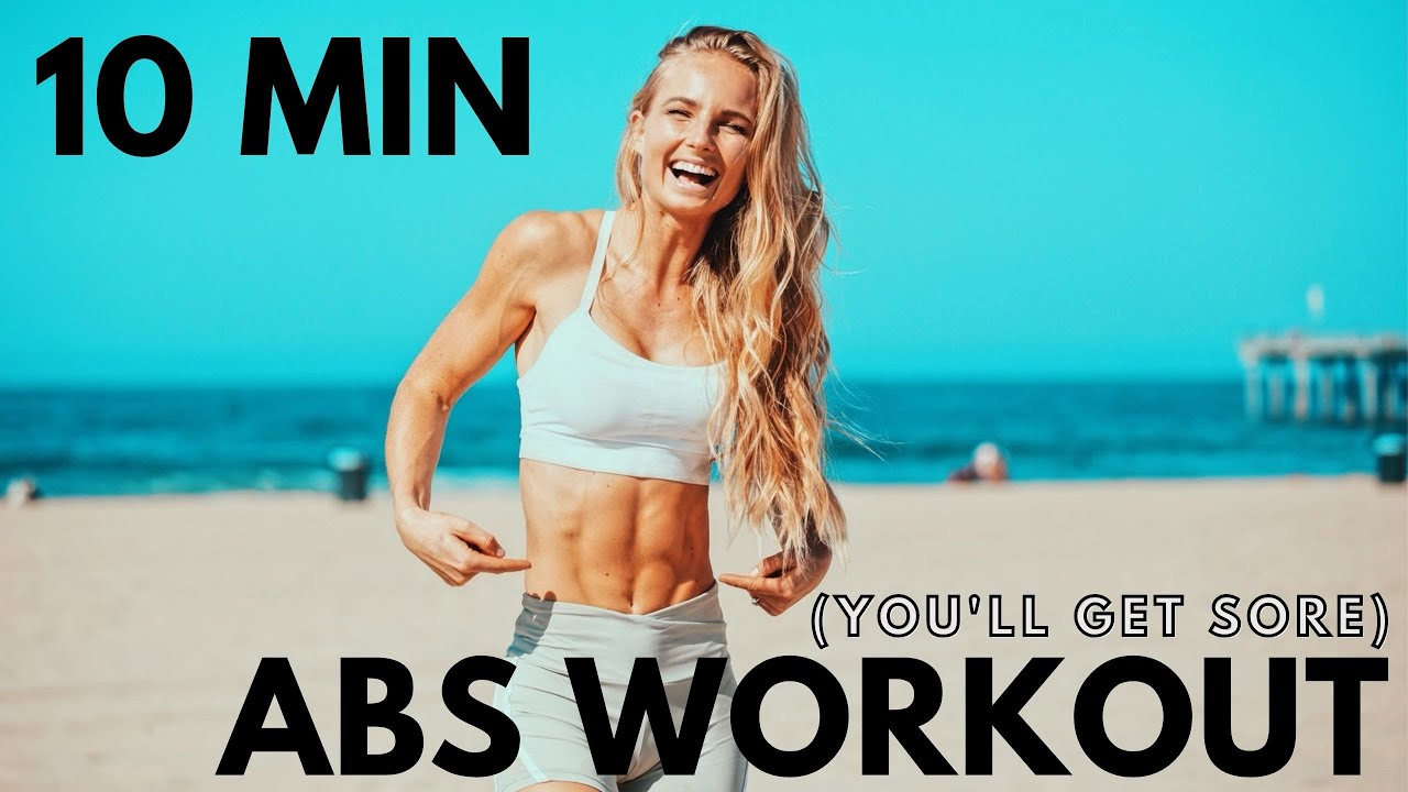 AT HOME Intense Abs Workout for a strong core for male or female. w. Dumbbells.
