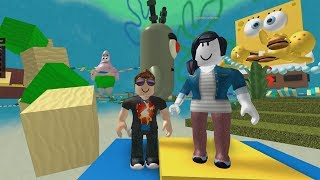 ROBLOX: ME AND MY MOTHER FLED THE GIANT WORLD OF SPONGEBOB!