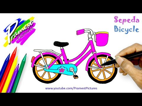 How To Draw Bicycle | Transportation Coloring Pages For Kids