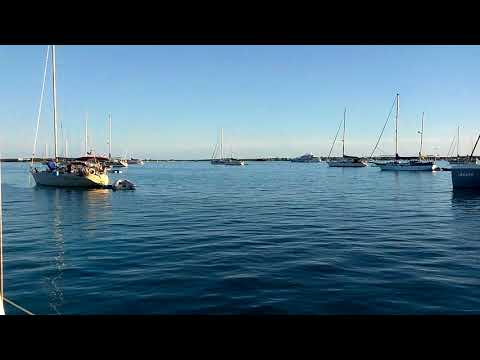 Westerly Pageant sailing Bahamas. Chat 'N Chill Beach.