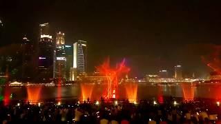 Лазерное шоу. Сингапур. Spectra - A Light And Water Show (September 2019)