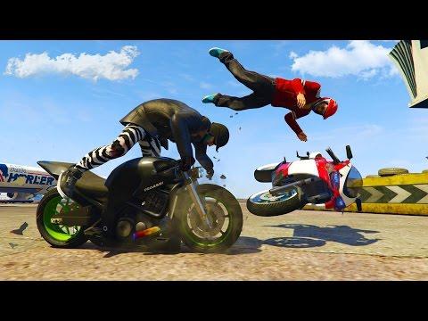MOTO GRAND PRIX - Crazy Skill Test!! (GTA 5 Online PC)