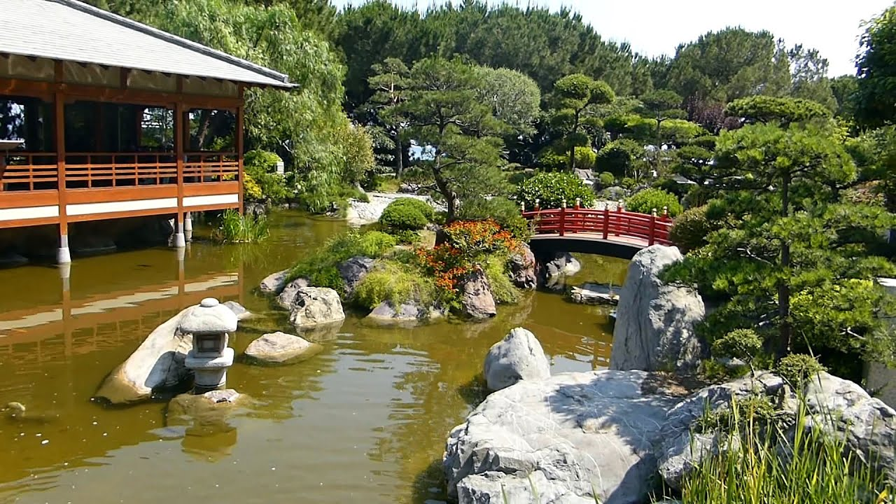 jardin japonais zen de monaco et plage du larvotto hd youtube. Black Bedroom Furniture Sets. Home Design Ideas