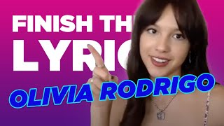 Olivia Rodrigo Covers One Direction, Taylor Swift & More   Finish The Lyric   Capital