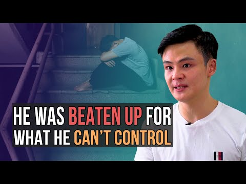 He was beaten up for what he can't control