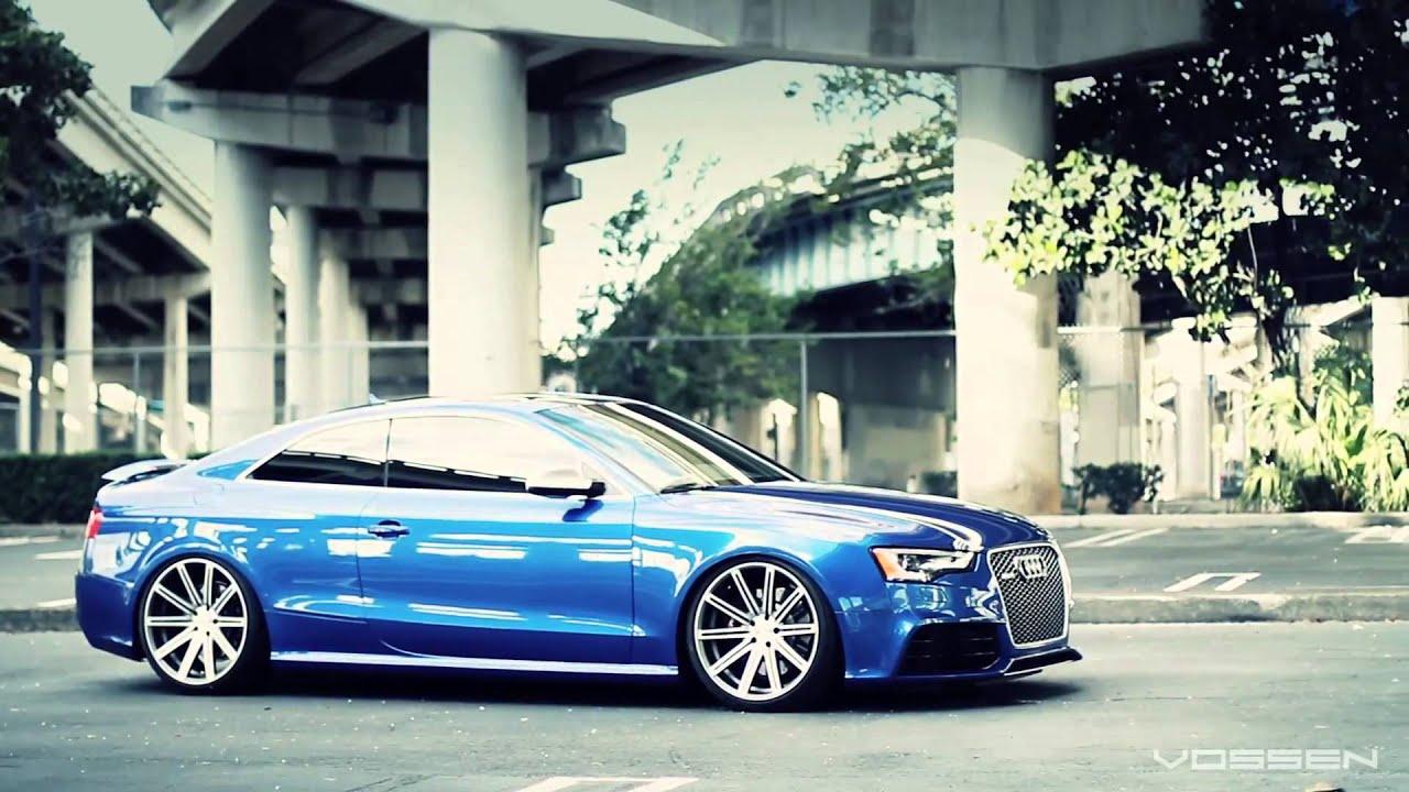 Audi Rs5 Bagged On 20 Vossen Vvs Cv4 Concave Wheels Youtube