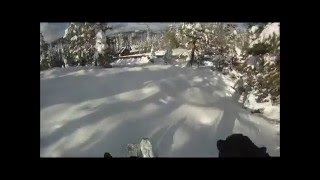 October 6th Powder Skiing in Tahoe Donner