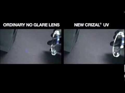 953ddc178a4a Crizal UV™ Demo  Transmission vs. Reflection - YouTube