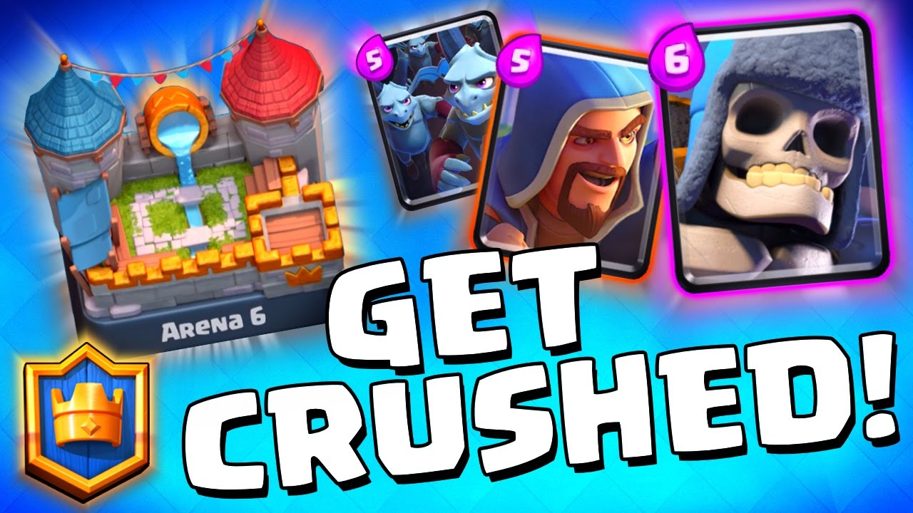Clash royale amazing arena 6 deck lightning spell for Deck pekka arene 6