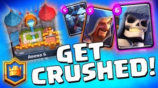 """Clash Royale """"AMAZING ARENA 6 DECK!"""" Lightning Spell Strategy!"""