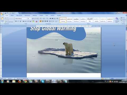 how to create poster with microsfot office 2007 youtube