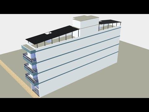 Edif cio de 6 apartamentos com ponto comercial cobertura for Fachada apartamentos pequenos