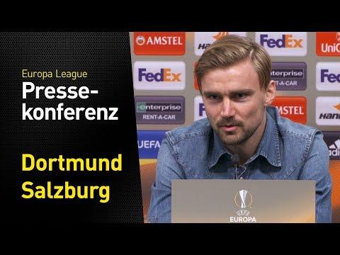 Wer hat die Favoritenrolle? | BVB - FC Salzburg | Pressekonferenz mit Stöger und Schmelzer