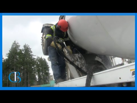 Concrete Truck Cleaning - Ice Blasting