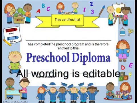 editable diplomas graduation invitations for preschool