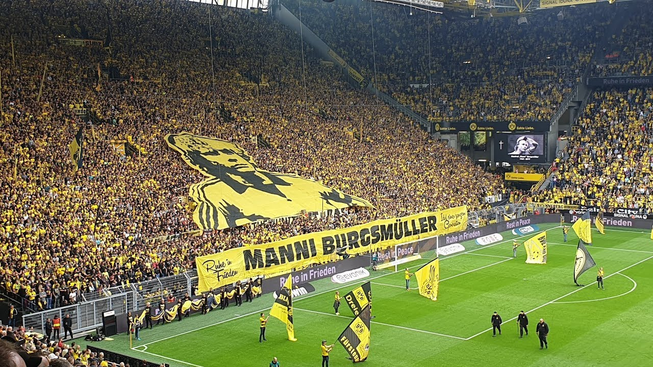 MOSAICO e YOU'LL NEVER WALK ALONE - BORUSSIA DORTMUND 5:1 AUGSBURG