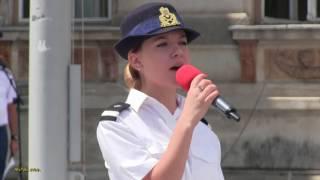 Sergent Rebeca Ciotlos - Desteapta-te, romane !, de Ziua Imnului National al Romaniei