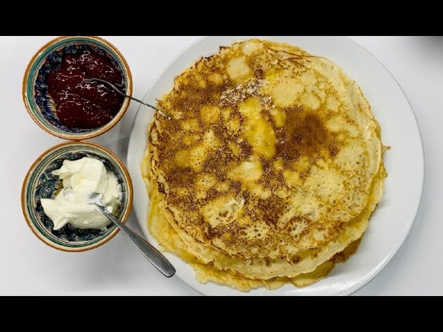 Let' make some Russian crepes 'blini'. VIDEO recipe!