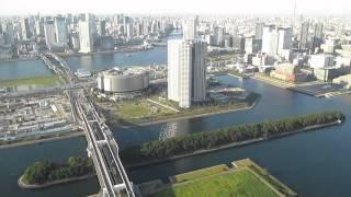 きずな出版の櫻井秀勲先生と岡村季子編集長、鬼塚の「飛び会」に参加し、東京上空を散歩。
