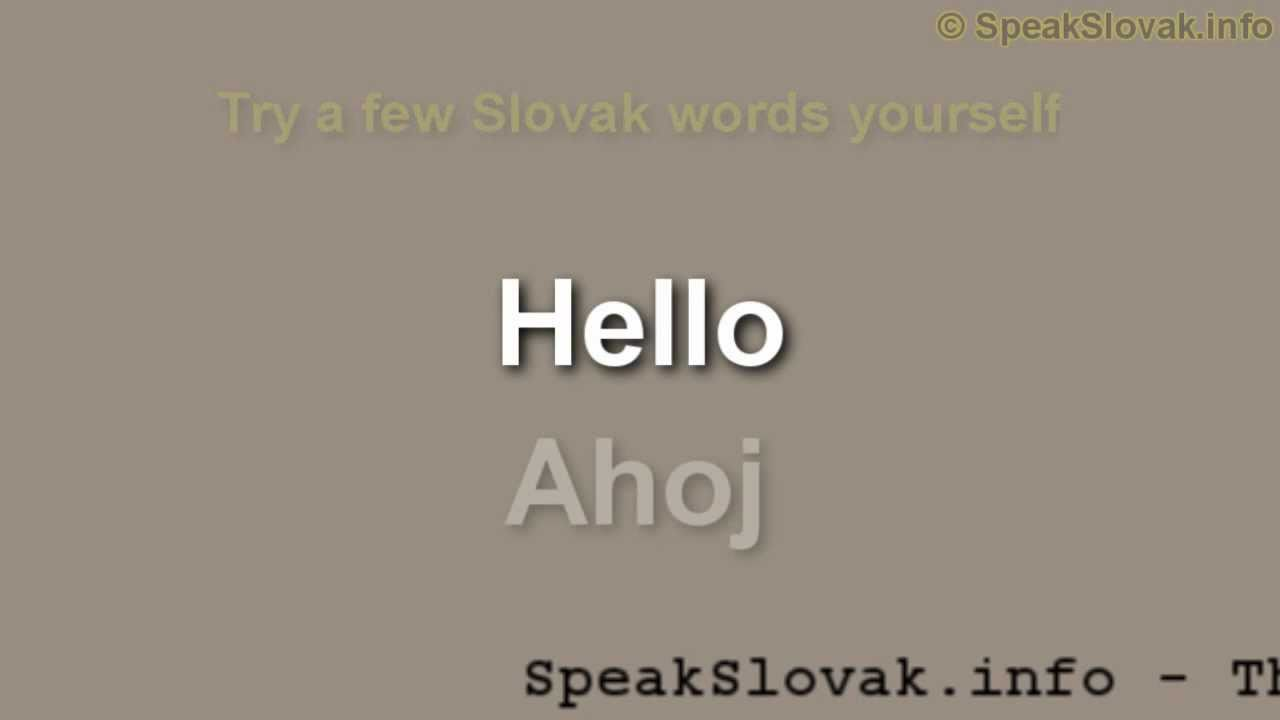 Hello in slovakian
