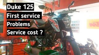 Ktm Duke 125 First Service | Duke 125 service cost