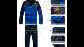 Обзор футбольного спортивного костюма Барселоны. Качественный материал. Taobao