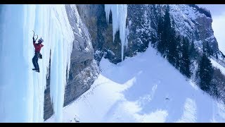 Ice Pillar Snaps with Climber on It, Here