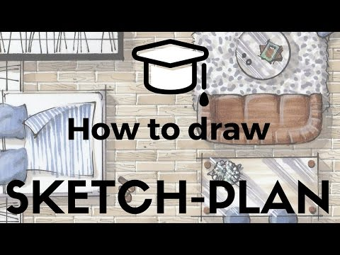 ✍🏼🎓How to draw sketch-plan w/markers in 10 steps and 30 minutes?