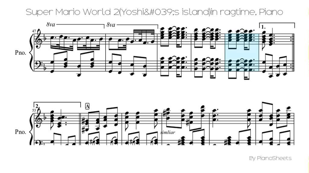 Super Mario World 2(Yoshi's island)in ragtime [Piano Solo] - YouTube